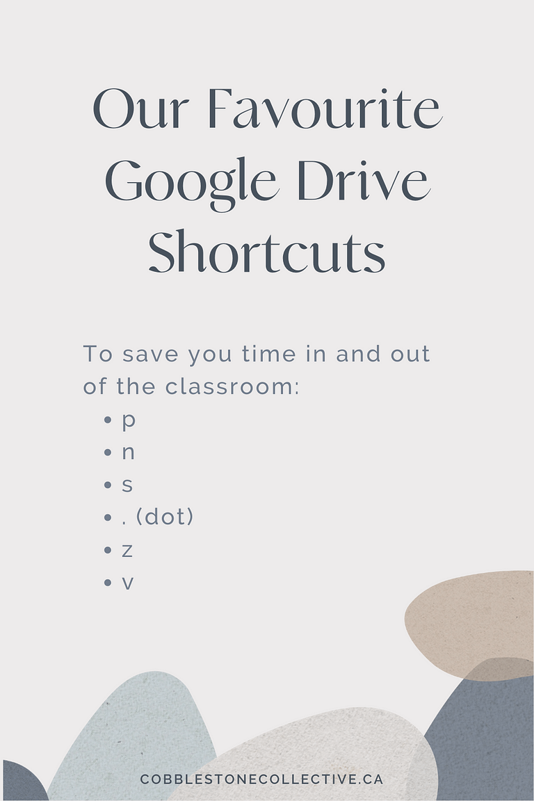 Google Drive Keyboard Shortcuts